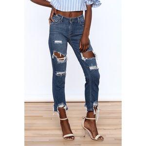 Just Black Denim JBD | Mid Rise Destroyed Jeans